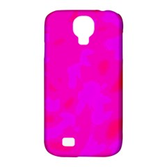 Simple Pink Samsung Galaxy S4 Classic Hardshell Case (pc+silicone) by Valentinaart