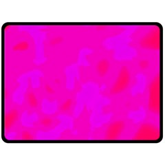Simple Pink Double Sided Fleece Blanket (large)  by Valentinaart
