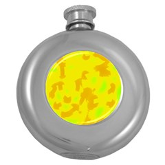 Simple Yellow Round Hip Flask (5 Oz) by Valentinaart