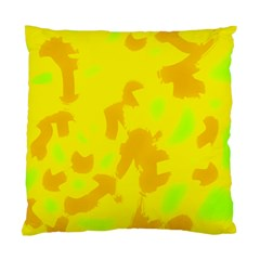 Simple Yellow Standard Cushion Case (one Side) by Valentinaart