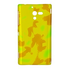 Simple yellow Sony Xperia ZL (L35H)