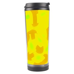 Simple Yellow Travel Tumbler by Valentinaart