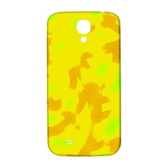 Simple Yellow Samsung Galaxy S4 I9500/i9505  Hardshell Back Case by Valentinaart