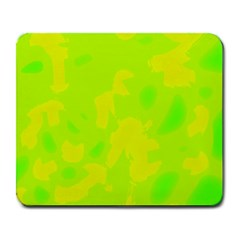 Simple Yellow And Green Large Mousepads by Valentinaart