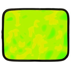 Simple Yellow And Green Netbook Case (large) by Valentinaart