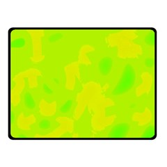 Simple Yellow And Green Fleece Blanket (small) by Valentinaart