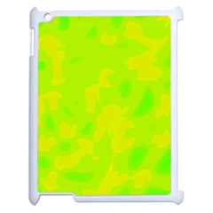 Simple Yellow And Green Apple Ipad 2 Case (white) by Valentinaart