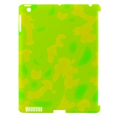 Simple Yellow And Green Apple Ipad 3/4 Hardshell Case (compatible With Smart Cover) by Valentinaart
