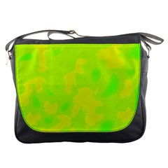 Simple Yellow And Green Messenger Bags by Valentinaart