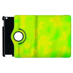 Simple Yellow And Green Apple Ipad 2 Flip 360 Case by Valentinaart