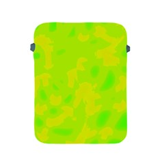Simple Yellow And Green Apple Ipad 2/3/4 Protective Soft Cases by Valentinaart