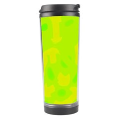 Simple Yellow And Green Travel Tumbler by Valentinaart