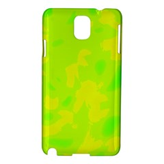 Simple Yellow And Green Samsung Galaxy Note 3 N9005 Hardshell Case by Valentinaart