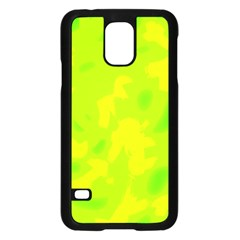 Simple Yellow And Green Samsung Galaxy S5 Case (black) by Valentinaart