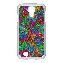 Lizards Samsung Galaxy S4 I9500/ I9505 Case (white) by Valentinaart