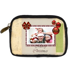 Xmas By M Jan   Digital Camera Leather Case   Z3fg2yf36pz5   Www Artscow Com Front