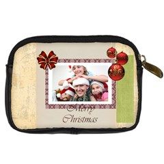 Xmas By M Jan   Digital Camera Leather Case   Z3fg2yf36pz5   Www Artscow Com Back