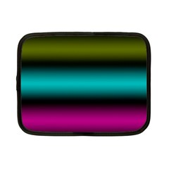 Dark Green Mint Blue Lilac Soft Gradient Netbook Case (small)  by designworld65