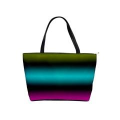 Dark Green Mint Blue Lilac Soft Gradient Shoulder Handbags by designworld65