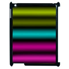 Dark Green Mint Blue Lilac Soft Gradient Apple Ipad 2 Case (black) by designworld65
