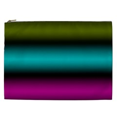 Dark Green Mint Blue Lilac Soft Gradient Cosmetic Bag (xxl)  by designworld65