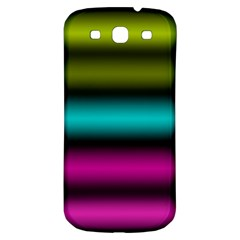 Dark Green Mint Blue Lilac Soft Gradient Samsung Galaxy S3 S Iii Classic Hardshell Back Case by designworld65