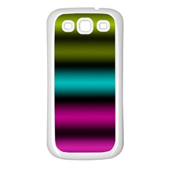 Dark Green Mint Blue Lilac Soft Gradient Samsung Galaxy S3 Back Case (white) by designworld65