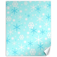 Blue Xmas Pattern Canvas 16  X 20   by Valentinaart