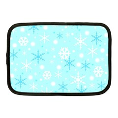 Blue Xmas Pattern Netbook Case (medium)  by Valentinaart