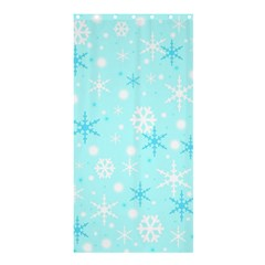 Blue Xmas Pattern Shower Curtain 36  X 72  (stall)  by Valentinaart