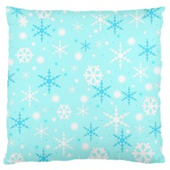 Blue Xmas Pattern Large Cushion Case (one Side) by Valentinaart