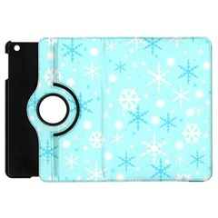 Blue Xmas Pattern Apple Ipad Mini Flip 360 Case by Valentinaart