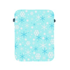 Blue Xmas Pattern Apple Ipad 2/3/4 Protective Soft Cases by Valentinaart