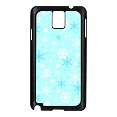 Blue Xmas Pattern Samsung Galaxy Note 3 N9005 Case (black) by Valentinaart