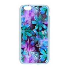 Blue on Purple Vintage Flowers Apple Seamless iPhone 6/6S Case (Color) by KirstenStar