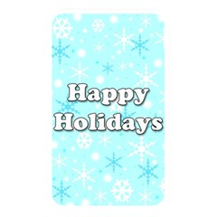 Happy Holidays Blue Pattern Memory Card Reader by Valentinaart