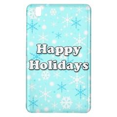 Happy Holidays Blue Pattern Samsung Galaxy Tab Pro 8 4 Hardshell Case by Valentinaart