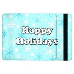 Happy Holidays Blue Pattern Ipad Air Flip by Valentinaart