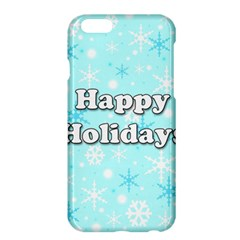 Happy Holidays Blue Pattern Apple Iphone 6 Plus/6s Plus Hardshell Case by Valentinaart