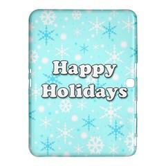 Happy Holidays Blue Pattern Samsung Galaxy Tab 4 (10 1 ) Hardshell Case  by Valentinaart