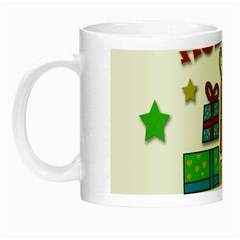 Happy Holidays   Gifts And Stars Night Luminous Mugs by Valentinaart