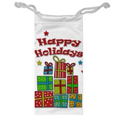Happy Holidays   Gifts And Stars Jewelry Bags by Valentinaart