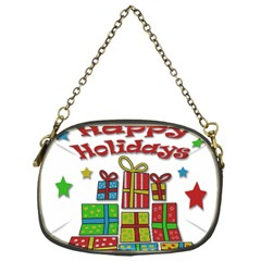 Happy Holidays   Gifts And Stars Chain Purses (one Side)  by Valentinaart