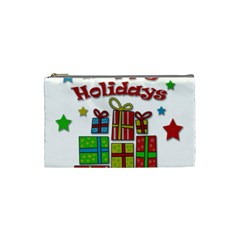 Happy Holidays   Gifts And Stars Cosmetic Bag (small)  by Valentinaart