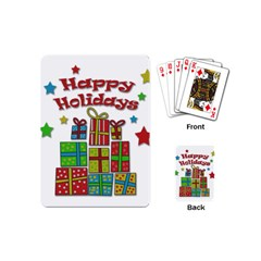 Happy Holidays   Gifts And Stars Playing Cards (mini)  by Valentinaart