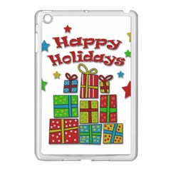 Happy Holidays   Gifts And Stars Apple Ipad Mini Case (white) by Valentinaart