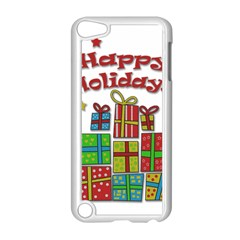 Happy Holidays   Gifts And Stars Apple Ipod Touch 5 Case (white) by Valentinaart