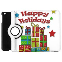 Happy Holidays   Gifts And Stars Apple Ipad Mini Flip 360 Case by Valentinaart