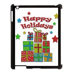Happy Holidays   Gifts And Stars Apple Ipad 3/4 Case (black) by Valentinaart
