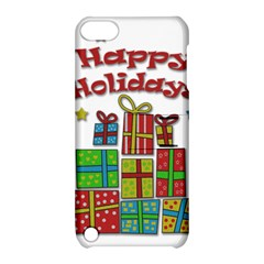 Happy Holidays   Gifts And Stars Apple Ipod Touch 5 Hardshell Case With Stand by Valentinaart